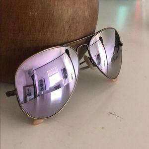 Ray van purple hue sunglasses